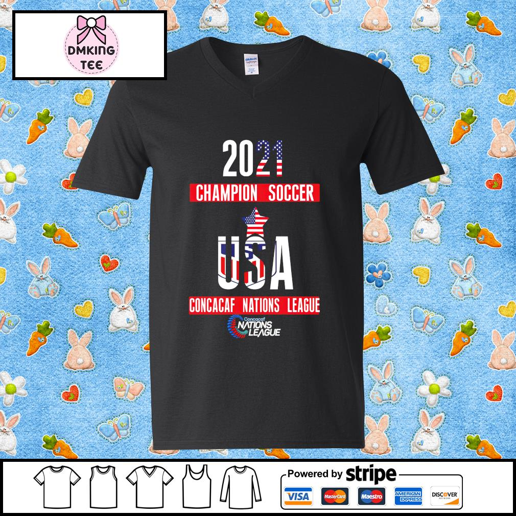 2021 Champion soccer USA Concacaf Nations League Guy v-neck t-shirt