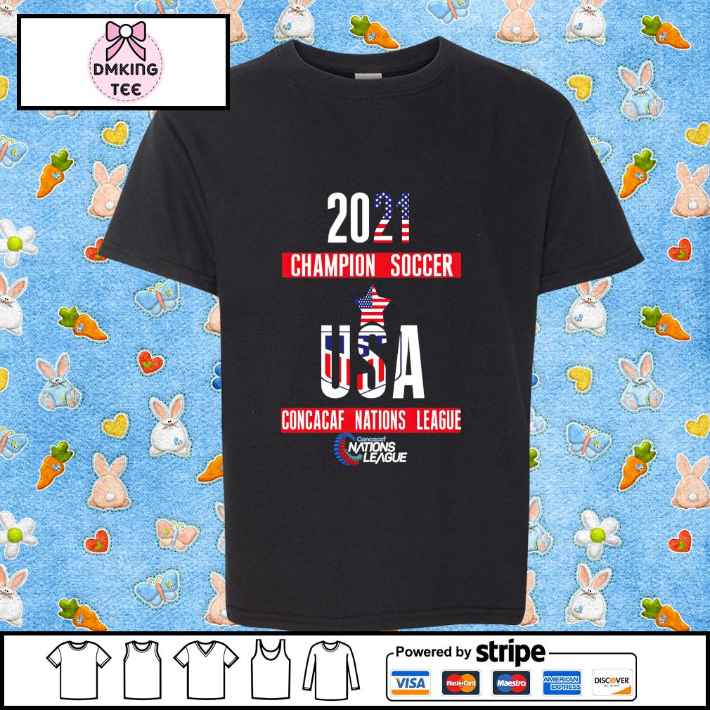 2021 Champion soccer USA Concacaf Nations League shirt