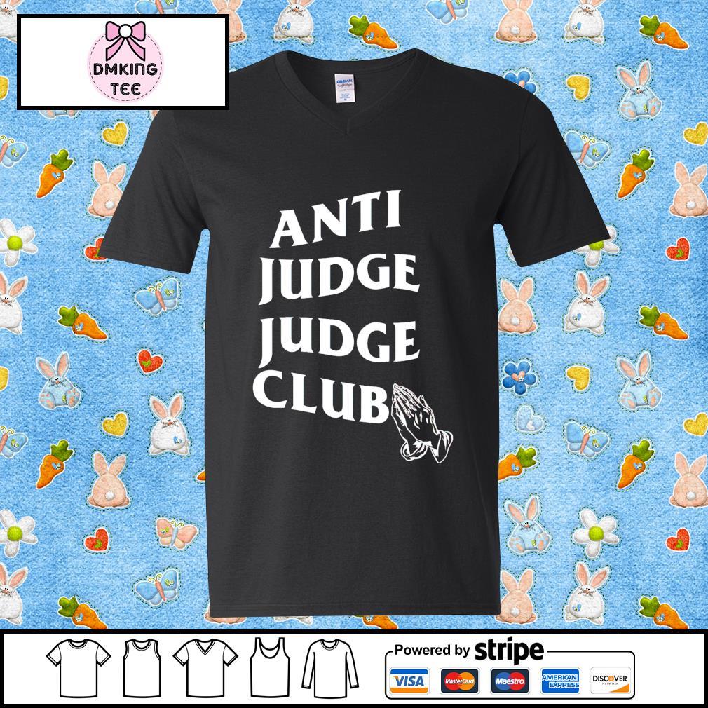 Anti judge judge club Guy v-neck t-shirt