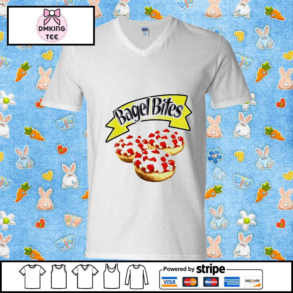 Bagel bites s Guy v-neck t-shirt