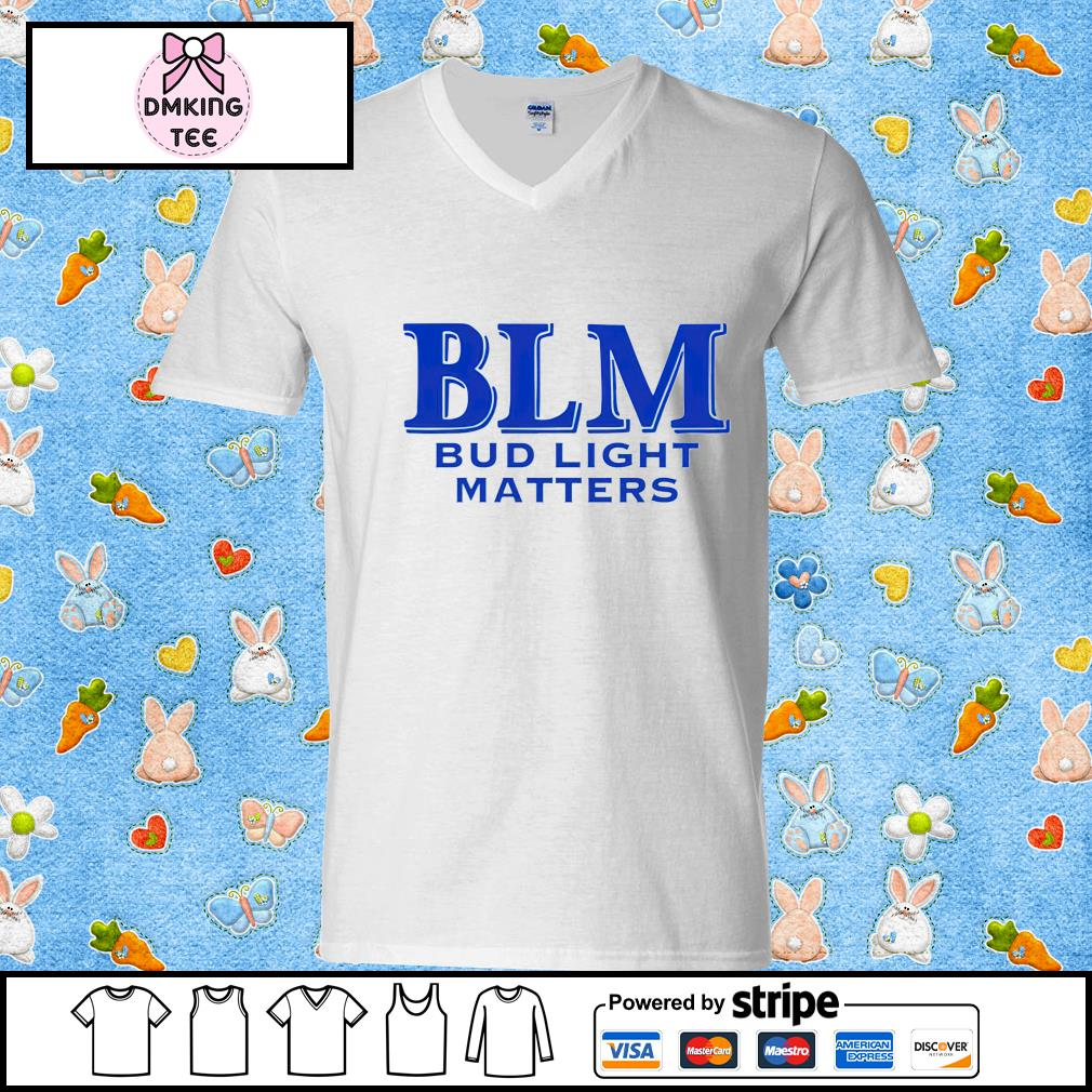 BLM Bud Light Matters beer s Guy v-neck t-shirt