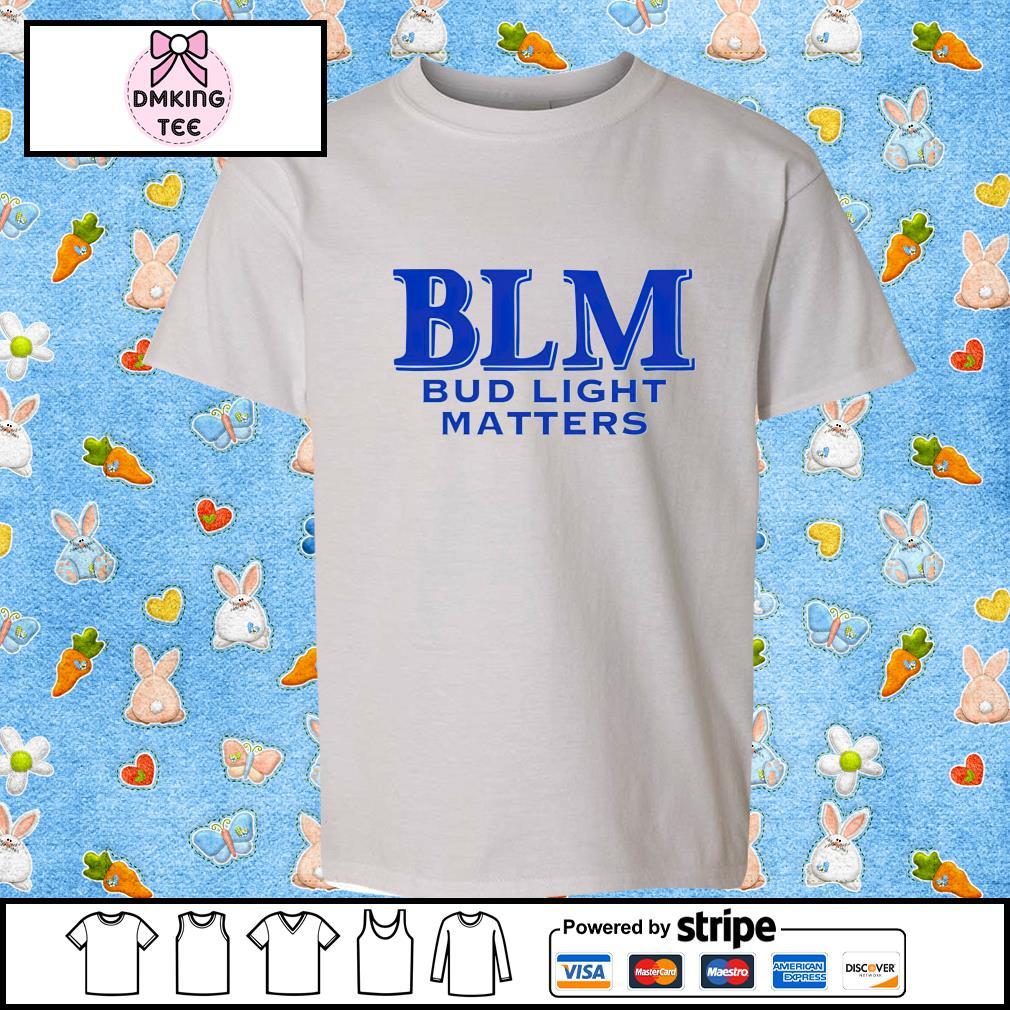 BLM Bud Light Matters beer shirt