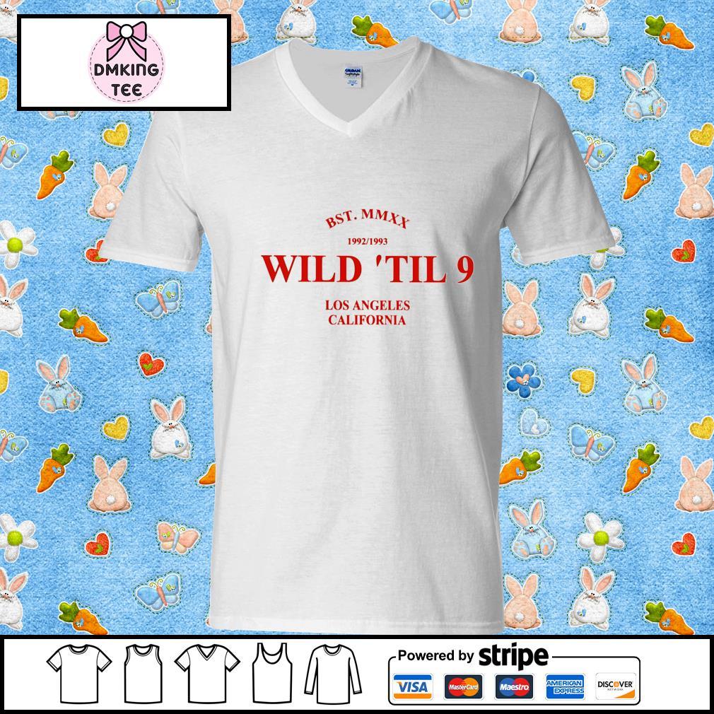 BST MMXX 1992 1993 wild 'til 9 Los Angeles California s Guy v-neck t-shirt