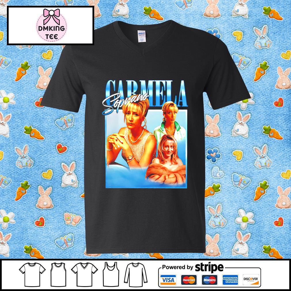 Carmela Soprano Guy v-neck t-shirt