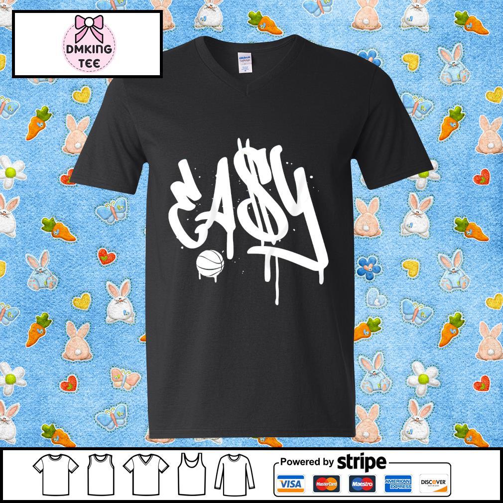 EA$Y Brooklyn Basketball t-s Guy v-neck t-shirt