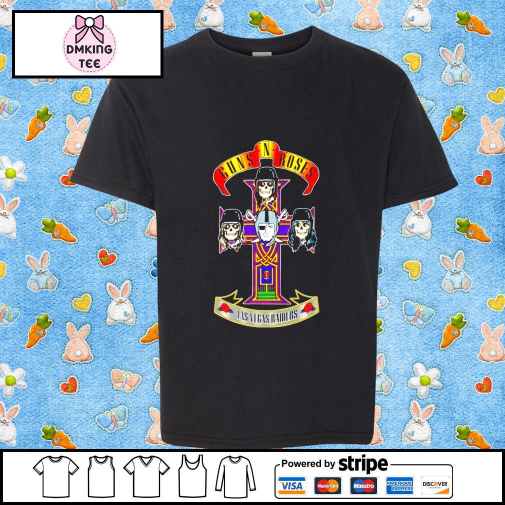 Guns N' Roses Las Vegas Raiders t-shirt