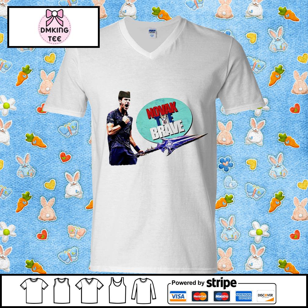 Novak Djokovic The Brave Good Quality Cotton s Guy v-neck t-shirt