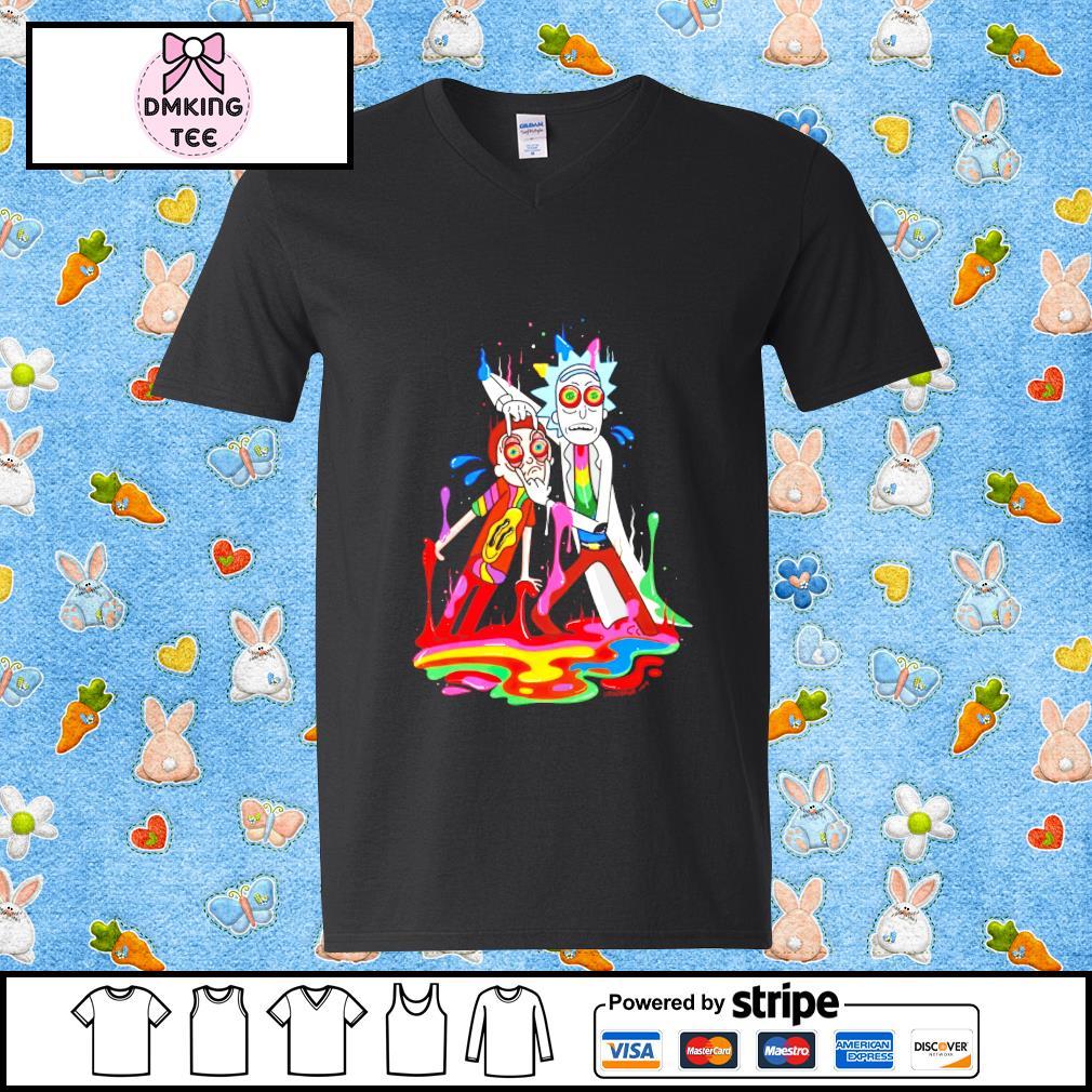 Rick and Morty Guy v-neck t-shirt