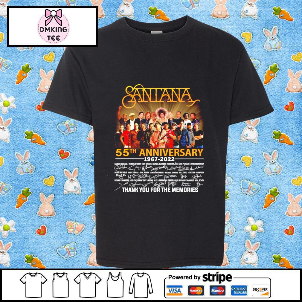 Santana 55th anniversary 1987-2022 signature shirt