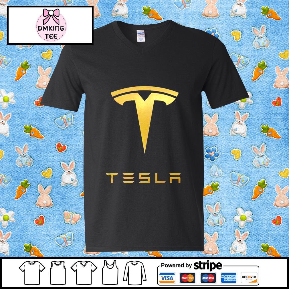 Tesla Legalize Guy v-neck t-shirt