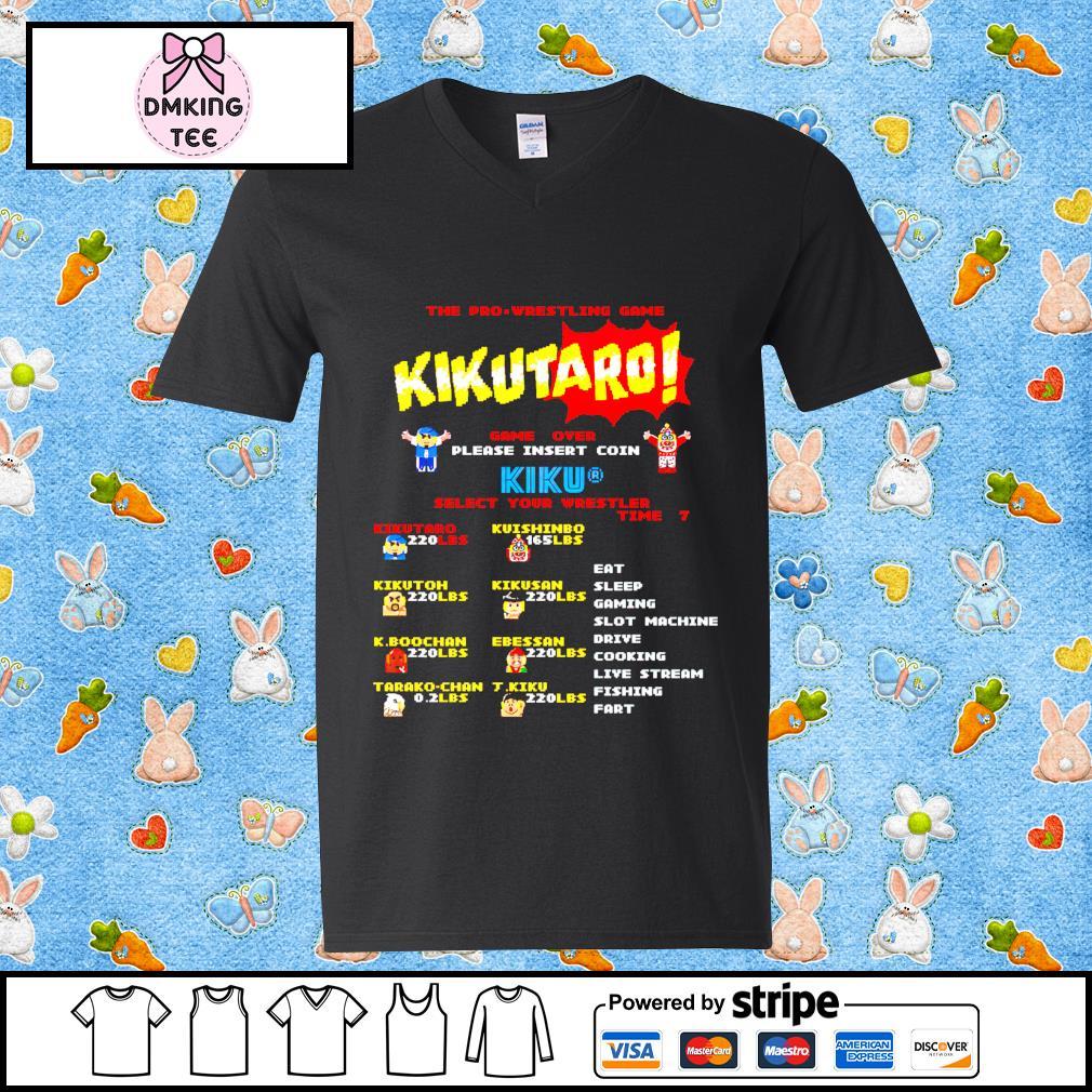 The Pro Wrestling game Kikutaro t-s Guy v-neck t-shirt