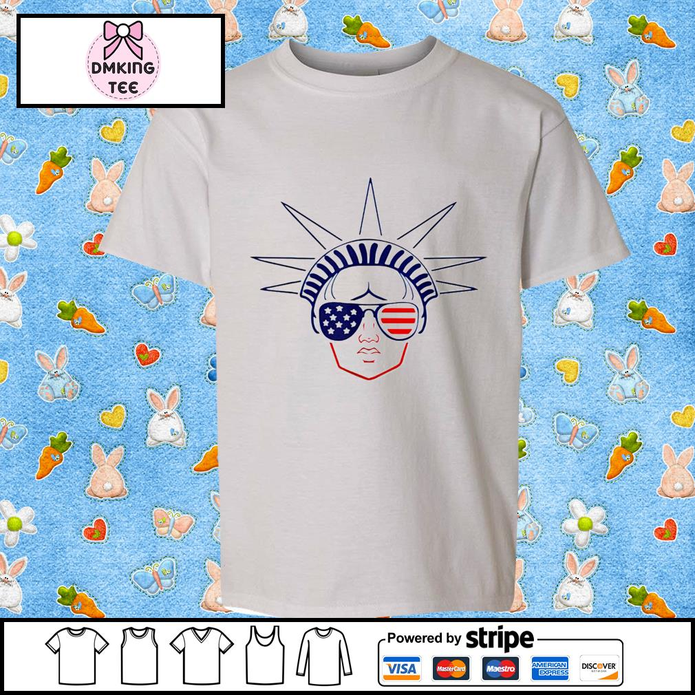 US Flag Statue of Liberty Sunglasses Apparel July 4th Party shirt