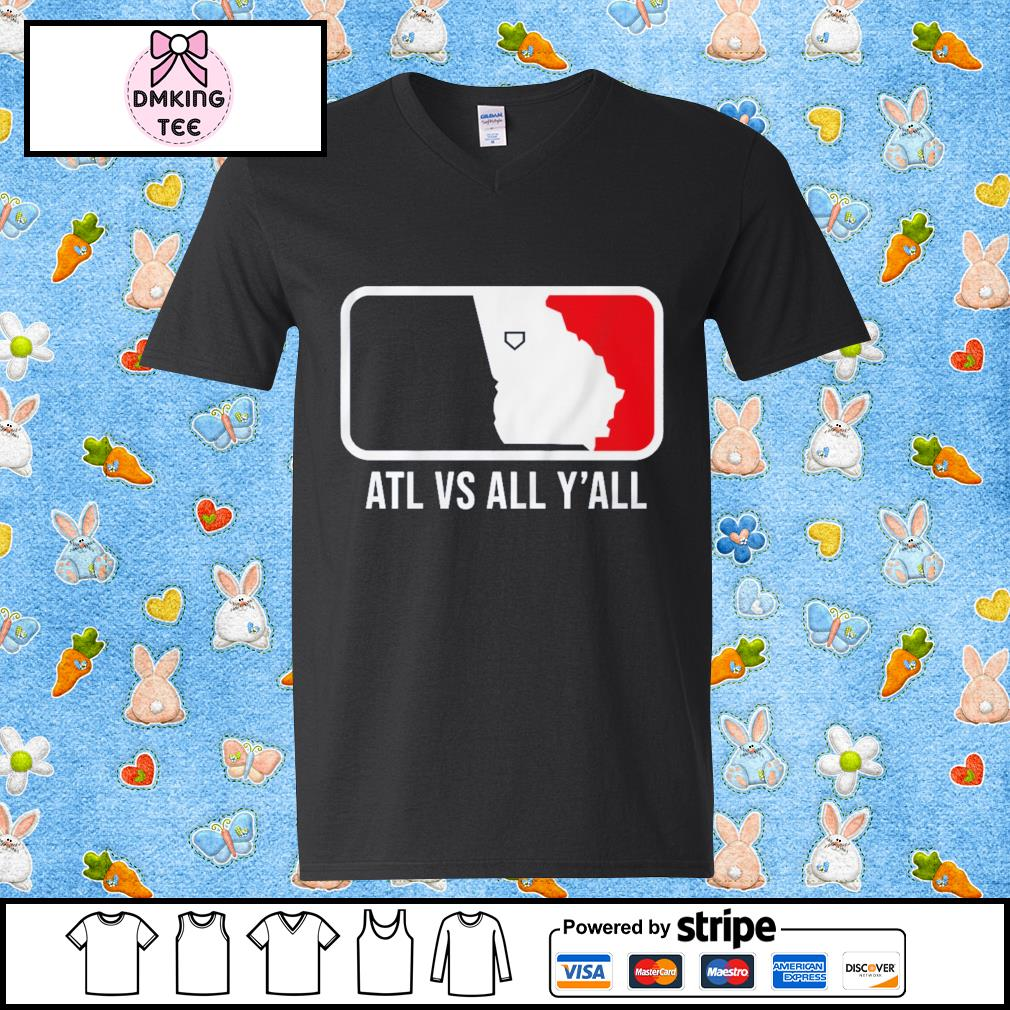 ATL vs All Y'all Shirt Guy v-neck t-shirt
