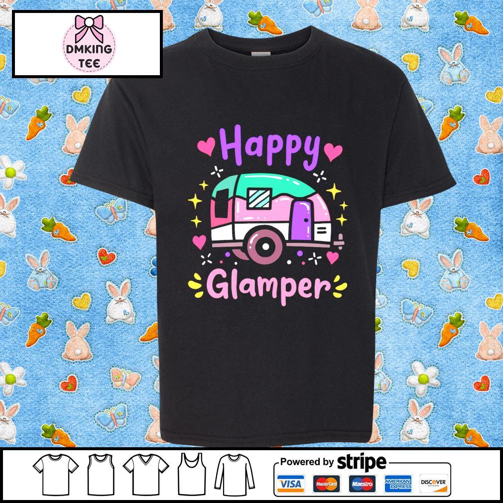 Glamper Glamping Camping Caravan shirt