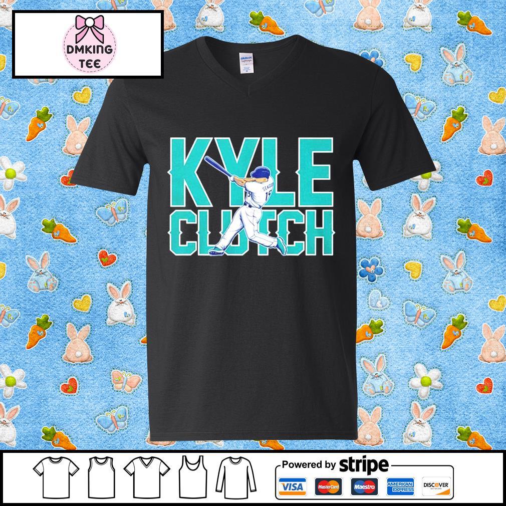 Kyle Clutch baseball Guy v-neck t-shirt