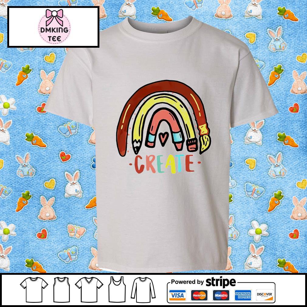 Rainbow pencil create shirt