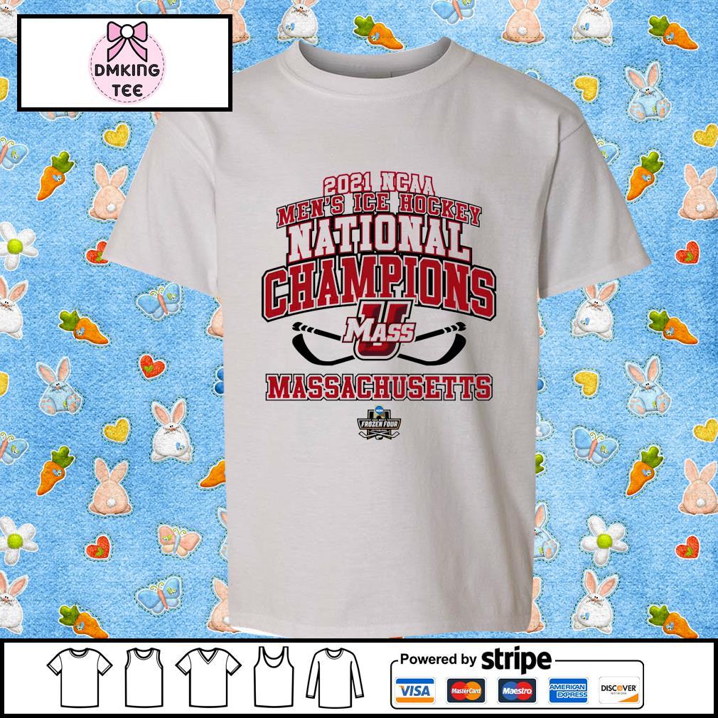 UMass Minutemen National Champions 2021 NCAA Men's Ice Hockey Locker Room shirt